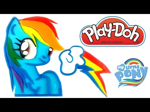 Play Doh Rainbow Dash How To Make Mlp Playdough My Little Pony Mi Pequeño Pony Arcoíris Plastilina video