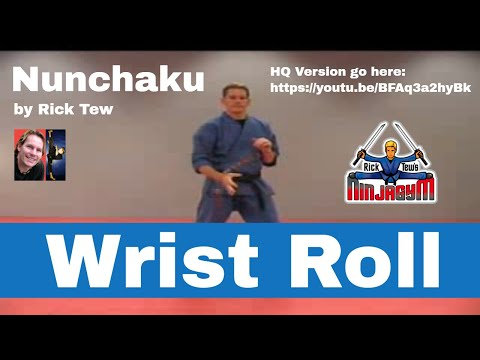 Rick Tew's Ninjagym Nunchaku Wrist Roll Ninja Training video