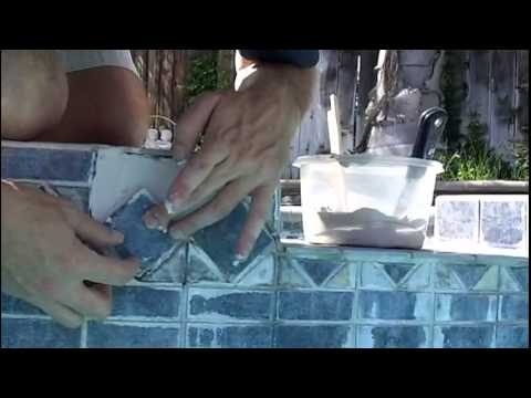 How to replace loose, cracked or missing pool tile with Home Depot Tile Thinset Repair Mortar