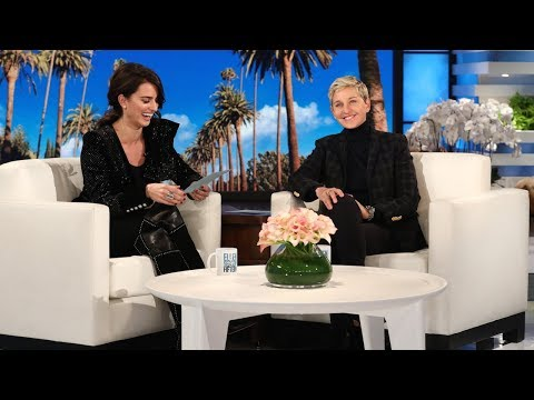 Penelope Cruz Tries to Teach Ellen Spanish | Penelope Cruz