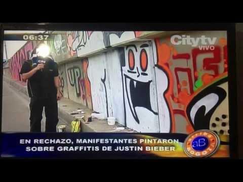Borran grafitis que pinto Justin Bieber en Bogota Colombia