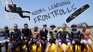 Noobs Learning Frontrolls - Kitesurfing How To