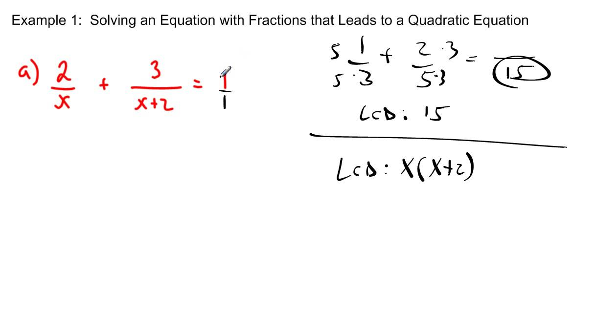 how to work out fraction problems from a worded equation