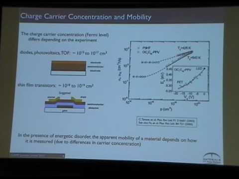 Disorderly Conduct of Organic Semiconductors - Michael Chabinyc