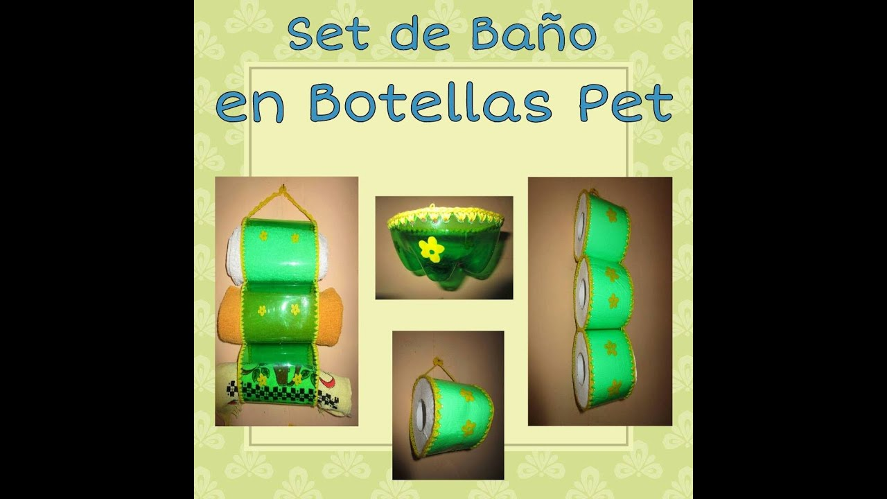 set de baño en botellas PET - YouTube