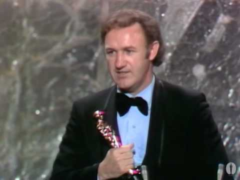 "Gene Hackman winning an Oscar® for ""The French Connection"""