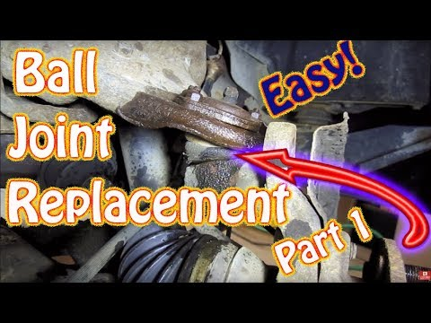 DIY Upper and Lower Ball Joint Replacement Part 1 - Chevy Blazer How to Replace