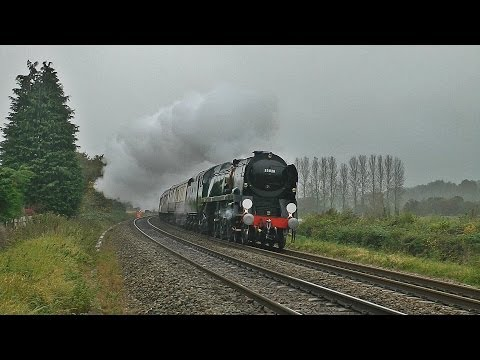 35028 Clan Line on Savernake & Dauntsey Banks with the VSOE - 24/10/12