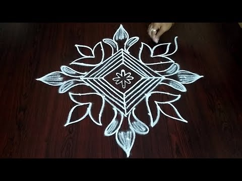 Deepam Rangoli Design 7 x 1 || Beautiful Deepam Muggulu Design || Fashion World