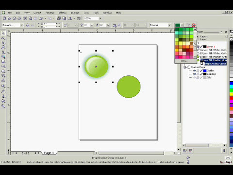 CorelDraw X3 Tutorial : Buttons