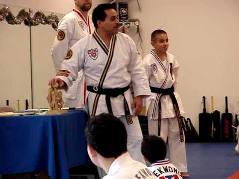 Melanie Walsh Receiving a Taekwondo Award Dec 2009 Video