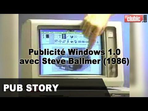 Publicité Windows 1.0 avec Steve Ballmer (1986)