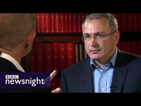 Mikhail Khodorkovsky (** IN RUSSIAN **) full interview on Putin, Russia, elections - BBC Newsnight