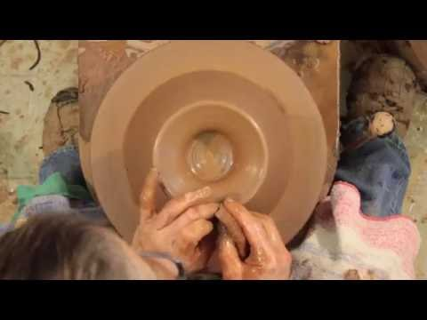 Throwing Pedestal on Bowl-How to Make a Pottery Pedestal Bowl-Part Five