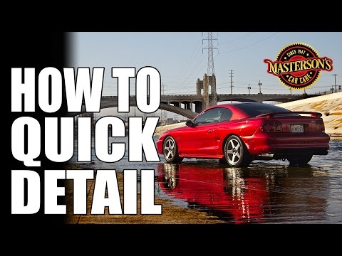How To Use Quick Detailer - Masterson's Detail Spray - Car Care Knowledge