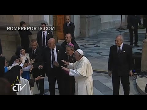 Hug attack? Pope Francis says....not now....