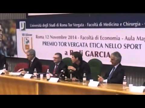 L'intervento di Rudi Garcia a Tor Vergata