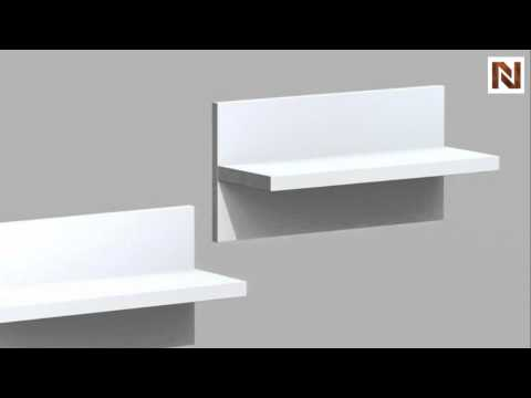 Nexera Liber T  Entertainment & Home Office Wall Shelves (2) 211103