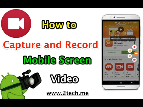 how to capture and record an mobile screen as video