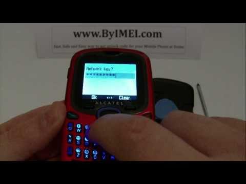 Alcatel OT 255 Unlock & input / enter code