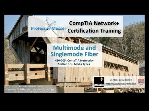 Multimode and Singlemode Fiber - CompTIA Network+ N10-005: 3.1