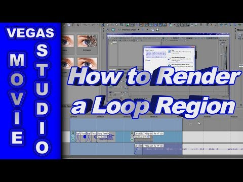 Rendering a Loop Region Only using Sony Vegas Movie Studio HD Platinum 10