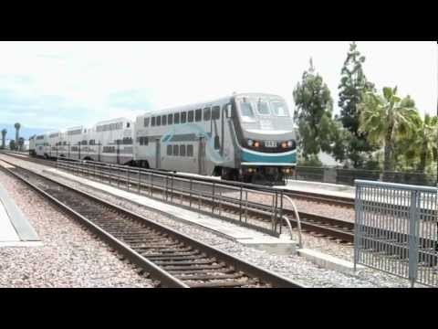 HD - Railfanning Buena Park - Southwest Chief with Ocean View Dome Car + More!