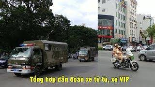 Tổng hợp đoàn xe chở tử tù, CSGT nữ dẫn đoàn VIP - Police convoy in action compilation