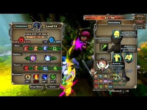 [Dungeon Defenders]  Loot Efficient Mistymire Forest Nightmare Wave 1