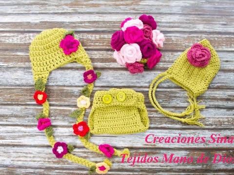 Gorros tejidos para niñas a Crochet
