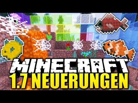 Minecraft 1.7 ALLE NEUERUNGEN World Change Update: Neue Biome Fische farbiges Glas