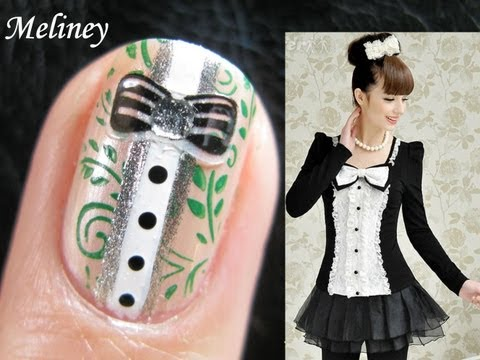 Bow Shirt Nail Design - (Giveaway Winner Announced)  Nail Art Tutorial for Konad Stamping A25