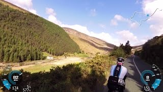 Wicklow Mountains 200 km cycling challenge Climbs