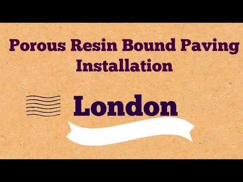 Porous Resin Bound Paving Pathway Surfacing London