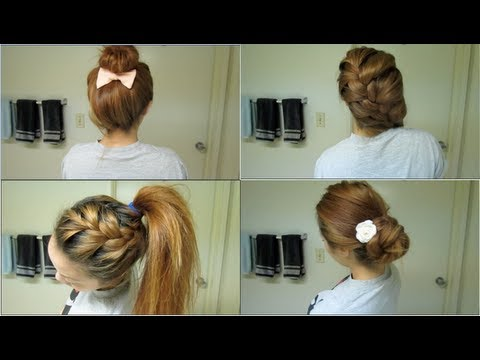 Easy Back-to-School Hairstyles - YouTube