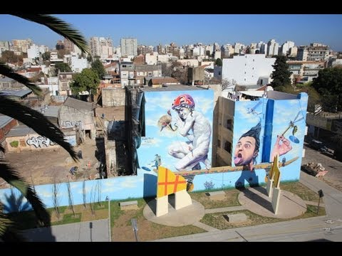 Martin Ron mural Villa Urquiza Art District project Buenos Aires Street Art