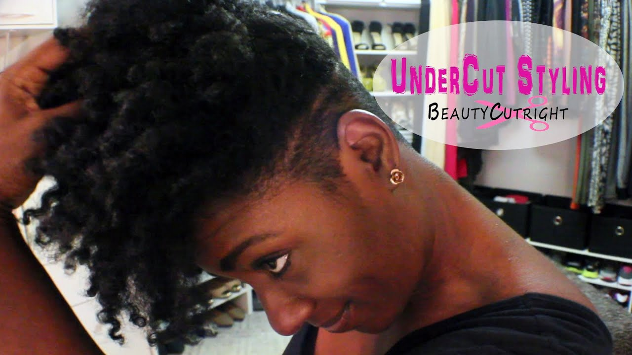 Get Ready With Me Natural Hair Undercut Qiuck Face Youtube