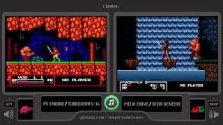 Cadash (Pc Engine vs Mega Drive) Side by Side Comparison (Turbografx 16 vs Sega Genesis)
