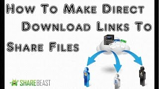 How to Make & Create a Direct Download Link Making Your File Downloadable FREE. Uploading Files