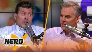 Mark Schlereth joins Colin to talk Kuechly retiring, Burrow's NFL counterpart | NFL | THE HERD