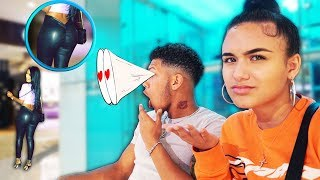 Staring At Other Girls Butts In Front Of My Girlfriend PRANK! (BAD IDEA!!)