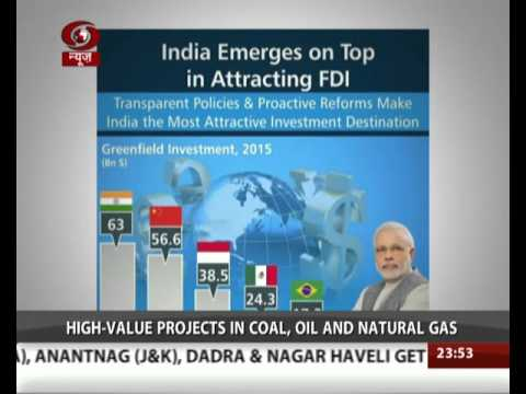 India pips China as top FDI destination in 2015