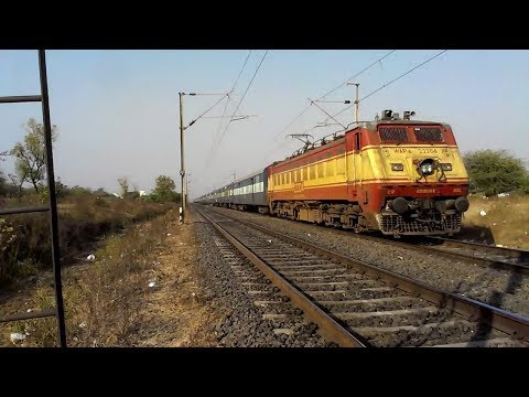 Raj Livery Wap-4 With Azad Hind Express!! video