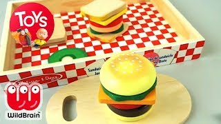 Velcro Food Cooking Playset | Make Your Own Burger | Toy Store