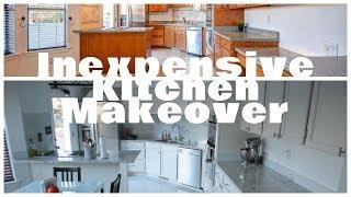 Kitchen Makeover Part 1 (Painting Kitchen Cabinets)