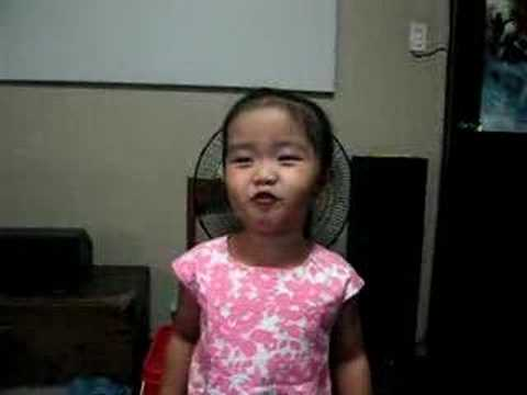 3 year old singing baa baa black sheep with a twist