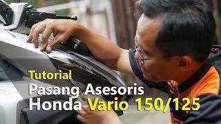 VLOG : Tutorial Cara Pasang Asesoris Honda Vario 2018/2019   TMCBLOG #1109