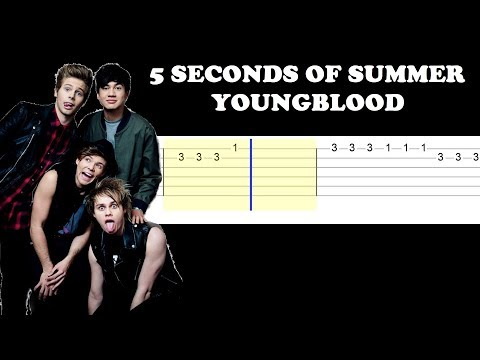 5 Seconds Of Summer - Youngblood (Easy Guitar Tabs Tutorial)