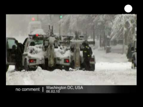 Snow storm in Washington DC