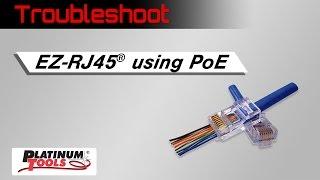 Terminating EZ-RJ45 for PoE